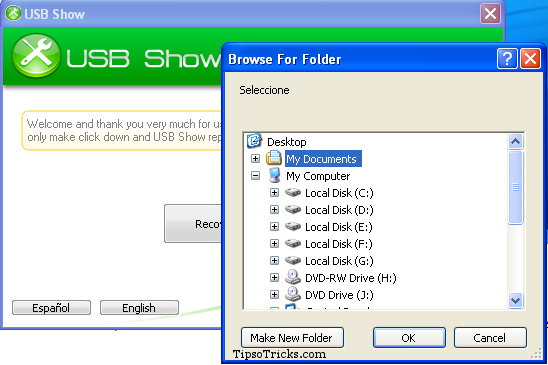 USB Show- showing files