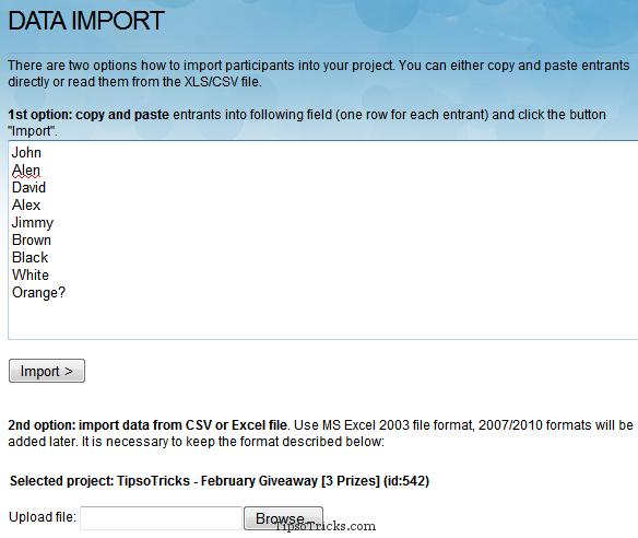 RandomPicker - Importing Participants Names