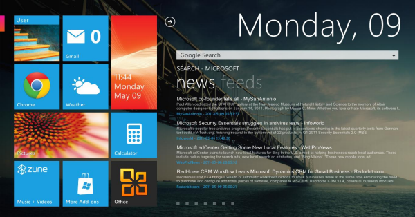 Omnimo for Rain Meter Windows 8 theme