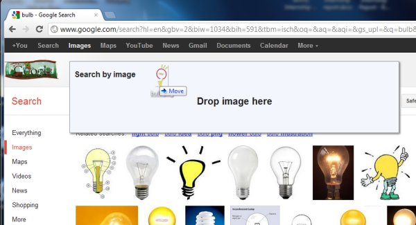 Image Search with Dragn Drop
