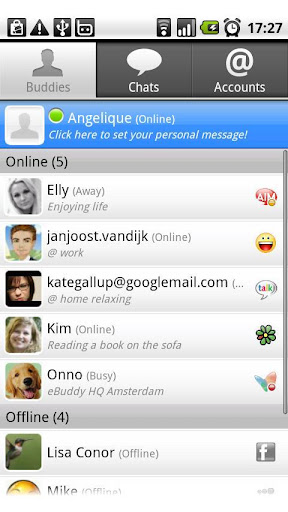 eBuddy for android phones