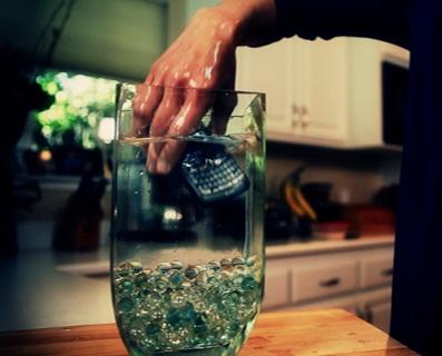 rinse in fresh water