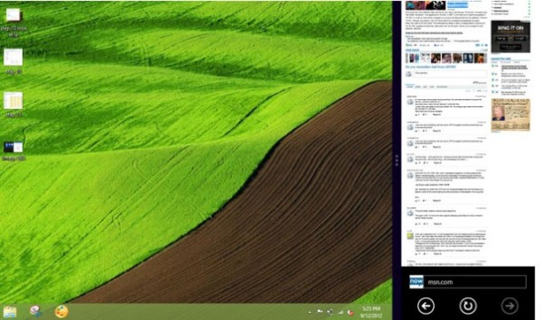 Windows 8 Dock an app