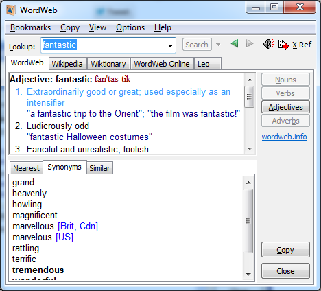 Free Dictionaries for Windows, Free Desktop Dictionary tools, Free Dictionary software,