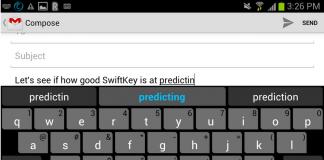 smartphone typing prediction
