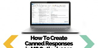 Create Canned Responses in MS Outlook