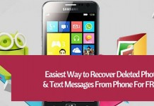 Recover deleted photos from phone