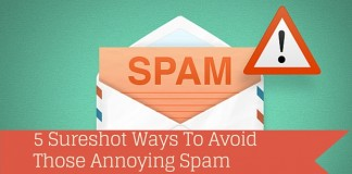 Ways to avoid spam emails