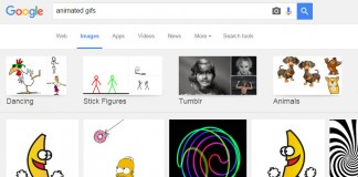 search animated gifs on google
