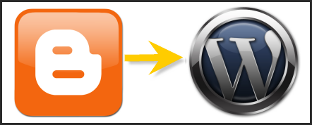 Blogger to WordPress migration logo