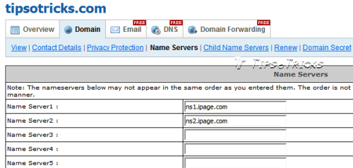 How to Change NameServers of Domain Name