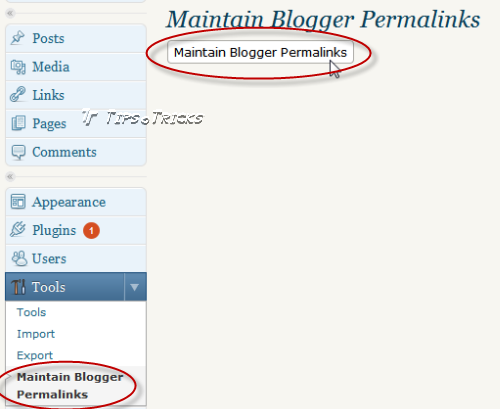 Plugin Maintain Blogger Permalinks in WordPress