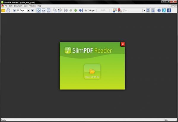 SlimPDF Reader Screenshot