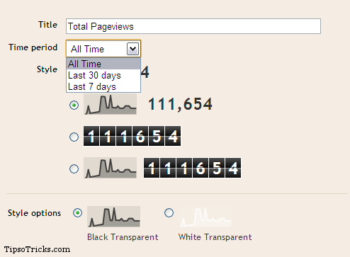Blogger Blogs Stats Gadget
