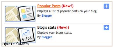 Blogger Popular Posts Widget