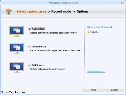 DemoCreator Select Capture Area