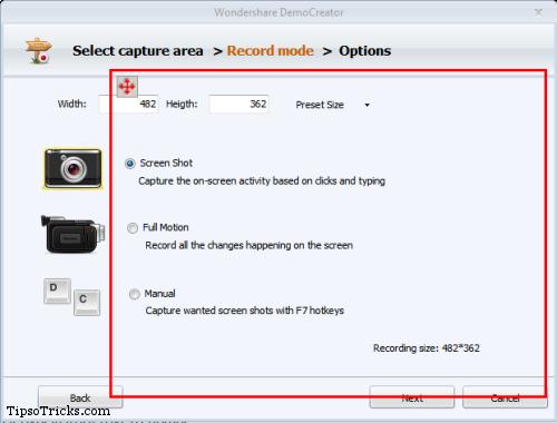 DemoCreator Select Recording Mode