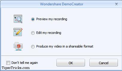 DemoCreator Selecting Editing and Viewing Options