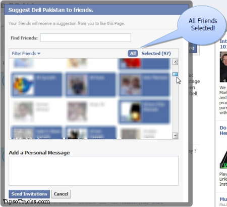 Facebook Trick Select All Friends