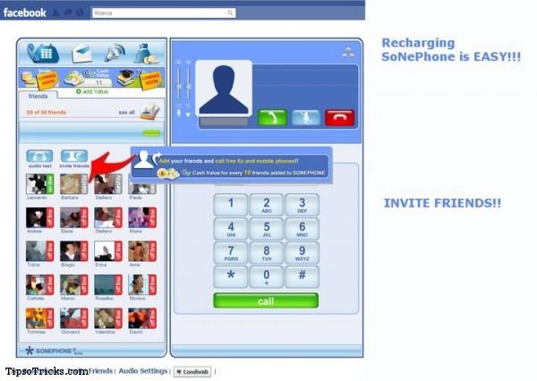 SonePhone Recharging Account