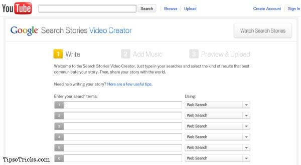 Google Search Stories Video Creator