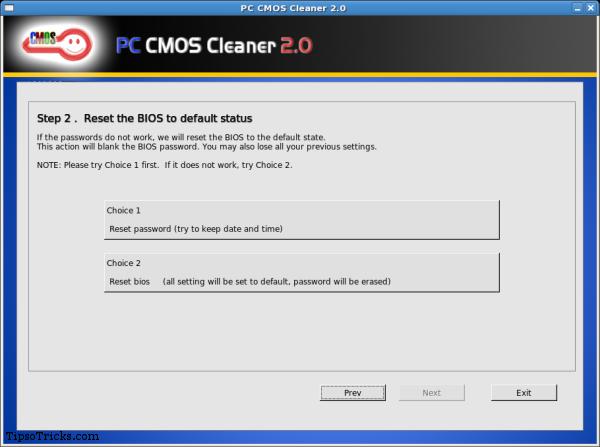PC CMOS Cleaner screenshot