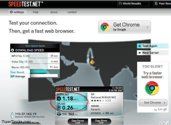Testing Internet Speed