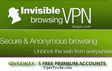 ibVPN Giveaway accounts
