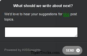 kissinsight feedback widget