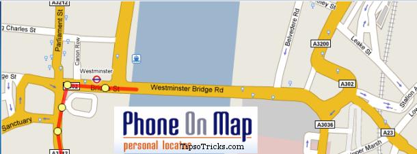 phoneonmap personal locator