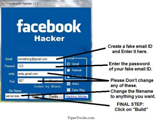 Facebook Hacking App