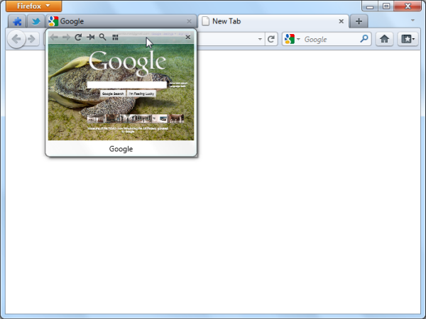 Tab Scope toolbar preview