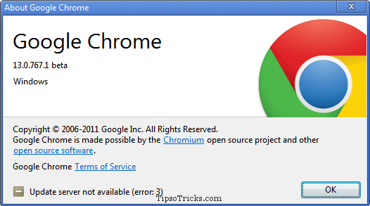 Google Chrome 13 screenshot
