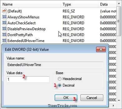 Registry Hack - Value to Decrease Taskbar Thumbnail Delay
