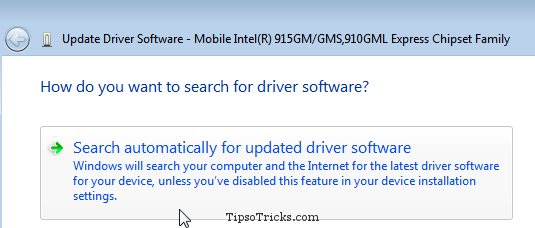 Windows 7 - Automatically Update Driver Software