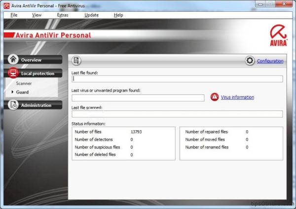 Avira FREE antivirus 2011 screenshot