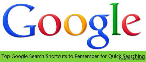 Google- Top Search Shortcuts