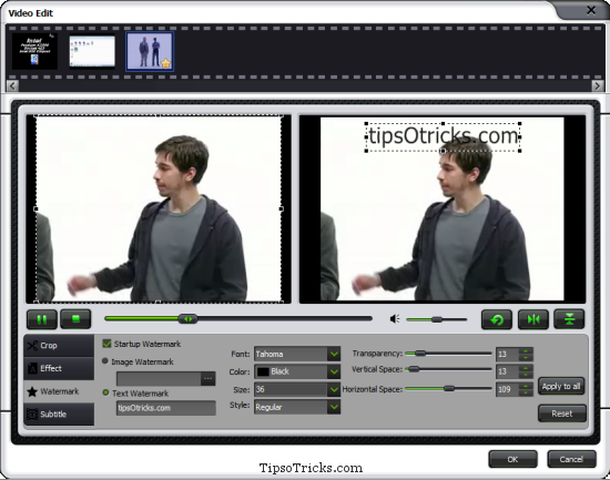 iMedia Converter Video Editing Features