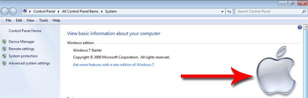 Change Windows 7 System Properties Logo