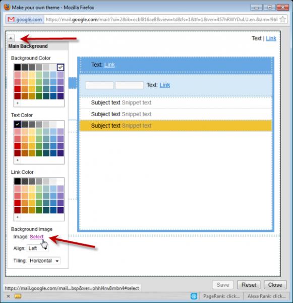 gmail custom theme creation