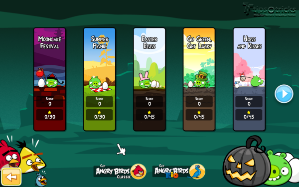 Angry Birds Seasons for PC - 2011 Seasons Selections