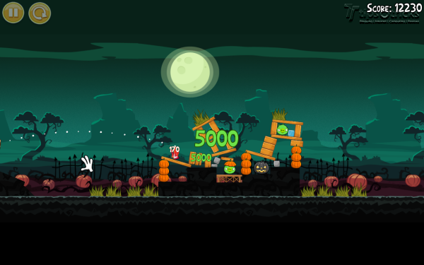 Angry Birds Seasons for PC - 2012 Hamoween Gameplay
