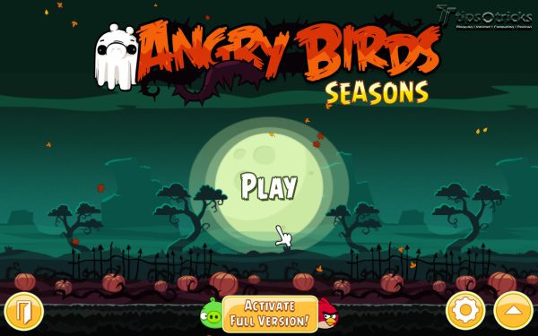 Angry Birds Seasons for PC - Main Menu