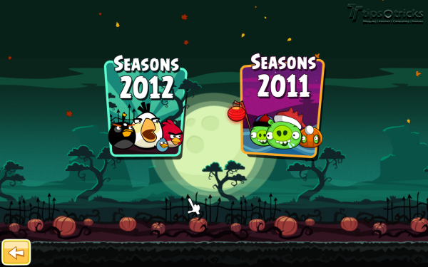 Angry Birds Seasons for PC - Seasons Selection Menu
