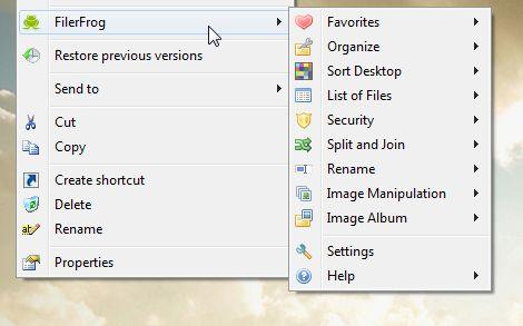 Filerfrog screenshot