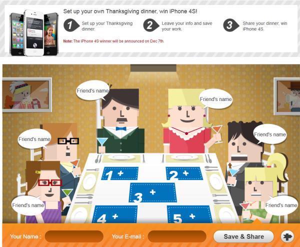 wondershare thanksgiving dinner for iPhone 4S