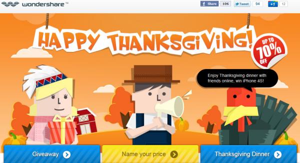 wondershare thanksgiving giveaway