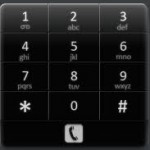 Android dialing pad