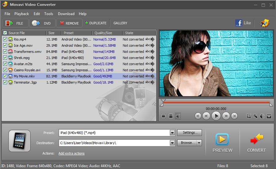MovAVI Coverter Screenshot