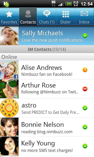 Nimbuzz for android phones